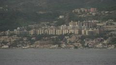 Coast of Sicily Messina town medium, dolly Stock Footage