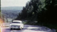 CLASSIC CAR Traveling on Highway Road 1960s Vintage Film Retro Home Movie 5763 Stock Footage