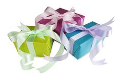 colorful gift boxes - stock photo