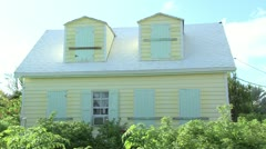 Home with shutters up awaiting a Hurricane Stock Footage