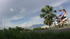 Highway Palm Tree In Thailand Stock Footage