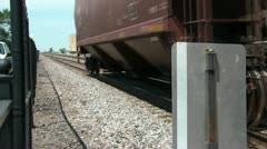 180 Degree Pan of Fast Moving Train Stock Footage
