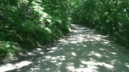 360 Of Dirt Road in Forest Stock Footage