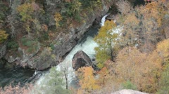 Kayakers at Tallulah Gorge #2 Stock Footage