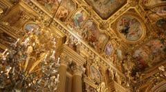 Garnier Opera in Paris Stock Footage
