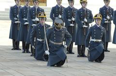 Stock Photo of parade of presidential guards. the kremlin. moscow. russia