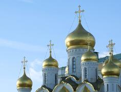 Annunciation cathedral in moscow Stock Photos