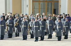 Parade of presidential guards. the kremlin. moscow. russia Stock Photos