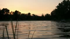 Beautiful Water at Sunset Stock Footage