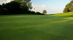 Golf course green - stock footage