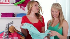 Friends Shopping Together Stock Footage