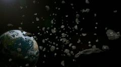 Asteroid belt Stock Footage