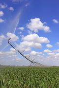irrigation system for agriculture - stock photo