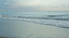 Beach with waves Stock Footage