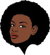 Afro hair woman illustration Stock Illustration