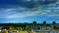 City clouds HDR panorama Stock Footage