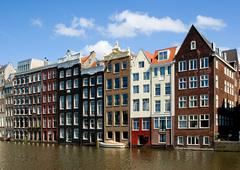 Stock Photo of facade of houses in amsterdam