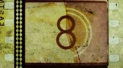 Universal film/academy leader countdown Stock Footage
