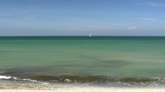 Panorama View - Baltic Sea, Northern Germany Stock Footage