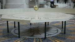 Foucault pendulum in Pantheon, Paris - stock footage