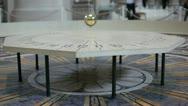 Foucault pendulum in Pantheon, Paris Stock Footage