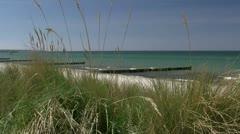 Beautiful Beach in Heiligendamm near Rostock - Baltic Sea, Northern Germany Stock Footage