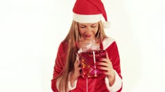 Christmas girl Stock Footage