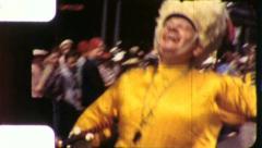 Joyful BANDLEADER Majorette Street Parade 1940s Vintage Film Home Movie 5776 Stock Footage