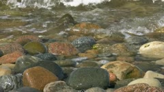 Waves on Stones on the Beach - Baltic Sea, Northern Germany Stock Footage