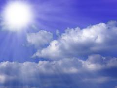 Sun Background Blue Stock Illustration