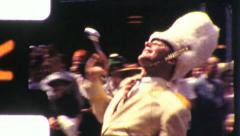 Joyful Man Struts BANDLEADER Majorette Parade 40s Vintage Film Home Movie 5777 Stock Footage