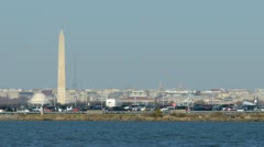 Ronald Reagan National Airport in Washington DC - stock footage