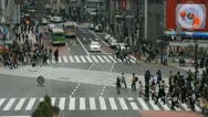 Shibuya Crossing Common Meeting Place Intersection Tokyo People Crowd Walking Stock Footage