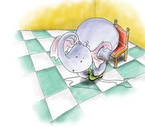 elephant in boots.jpg - stock illustration