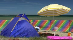 Summer on the Beach - Baltic Sea, Northern Germany Stock Footage