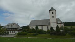 Black Forest country church Stock Footage