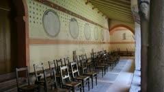 Church Courtyard - stock footage