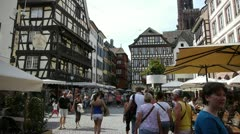 Medieval square Stock Footage