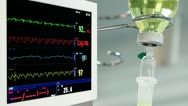 Rotating monitor in operation room Stock Footage