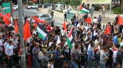 Anti war demonstration supporting Gaza in Nazareth Israel - stock footage
