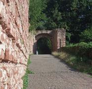 Stock Photo of archway around wertheim castle