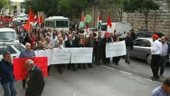 Stock Video Footage of Anti war demonstration supporting Gaza in Nazareth Israel