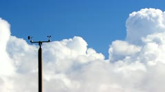 Weather station and clouds Stock Footage