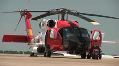 Coast Guard Rescue Helicopter Stock Footage