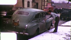 CLASSIC CAR ANTIQUE AUTO 1940 Plymouth Sedan (Vintage Film Home Movie) 5789 Stock Footage