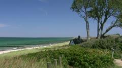 Seaside Resort Town Ahrenshoop on Darss Peninsula - Baltic Sea, Germany Stock Footage