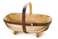 Traditional sussex gardening trug Stock Photos
