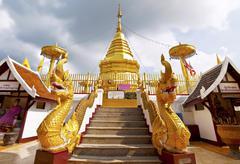 Wat phra that doi kham Stock Photos