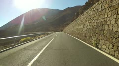 Driving in volcano landscape - stock footage