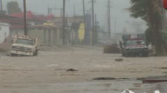 Hurricane flooding winds Stock Footage
